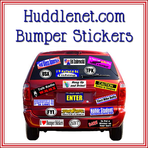Huddle Bumper Stickers