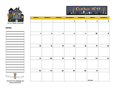 Dated October 2014 Calendar
