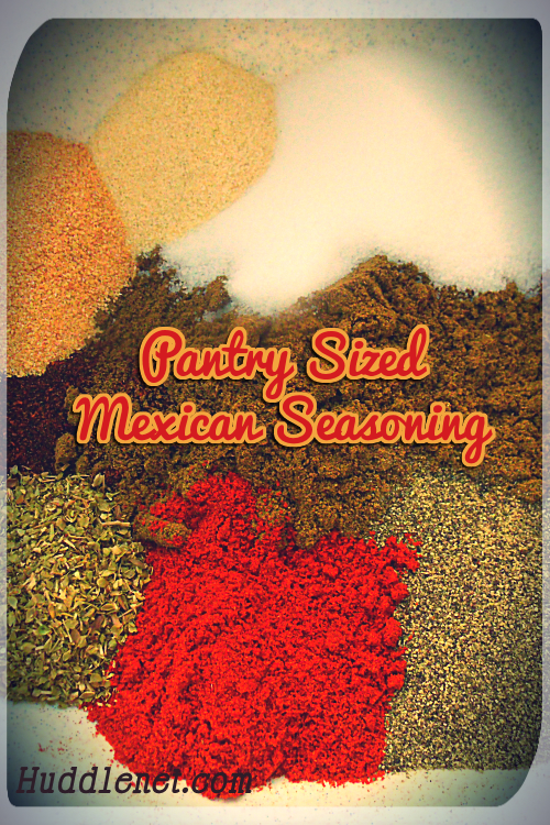 This blend of Homemade Mexican Seasoning is cheaper than packaged ones, tastes better and uses common household spices.