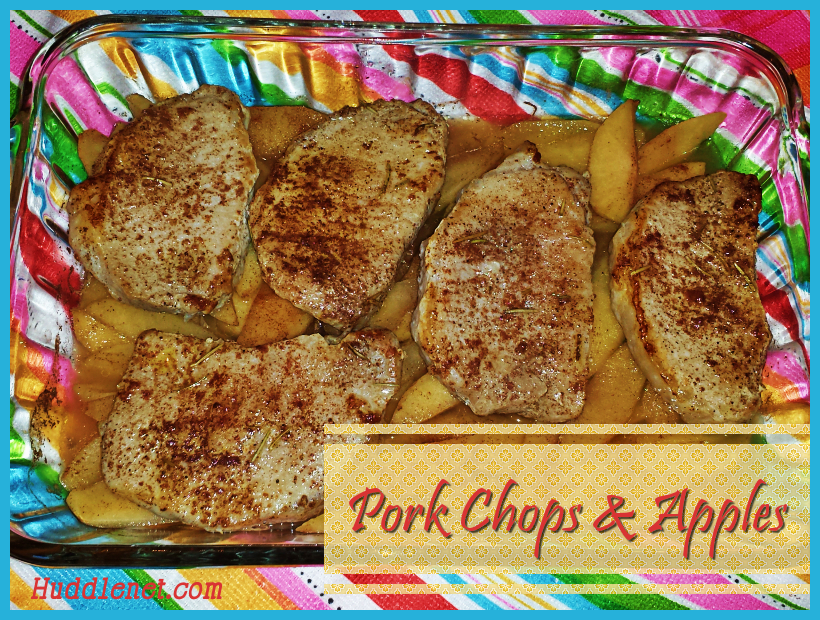 Pork Chops & Apples - A healthy delicious main dish and dessert