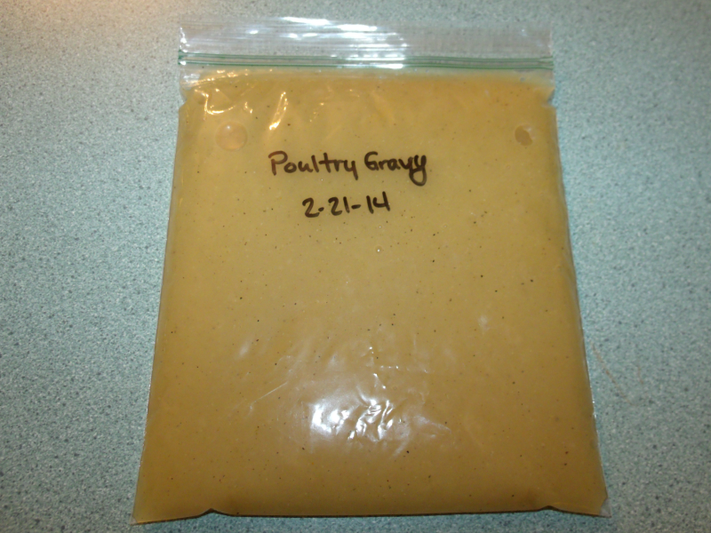Poultry Gravy from Bouillon Ready for Freezer