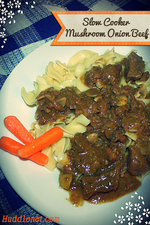 Savory Slow Cooker Mushroom Onion Beef is a hearty dish with little fuss and big taste.