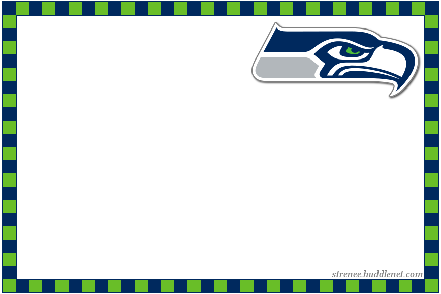 Seahawks card 4x6 blankpng 868578 Take One For The
