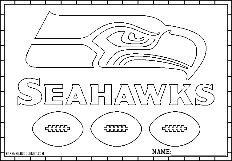 seattle super hawks seattle seahawks logo seattle seahawks football - Football Printable Coloring Pages