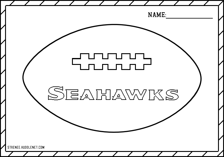 Seattle Seahawks Free Coloring Pages Huddlenet