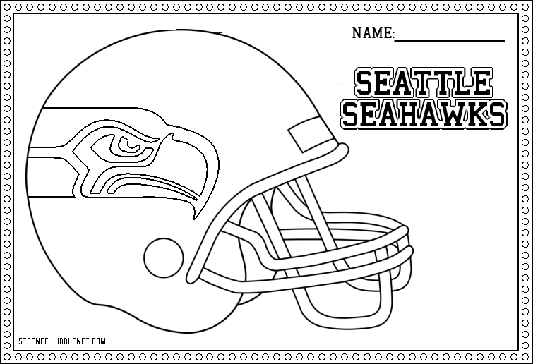 Football Seattle Seahawks Helmet