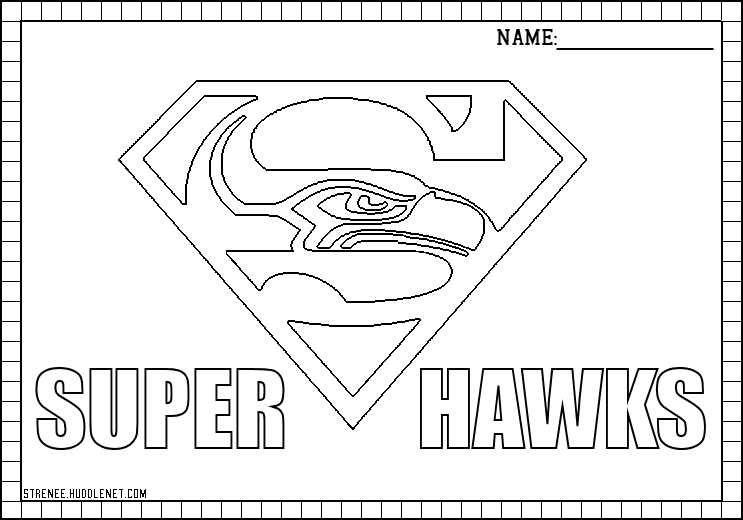 seattle super hawks seattle seahawks logo - Nfl Logo Coloring Pages Printable
